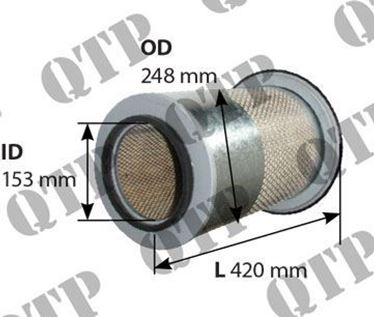 Mynd sýnir Air Filter 3670 3680 3690 Ytri